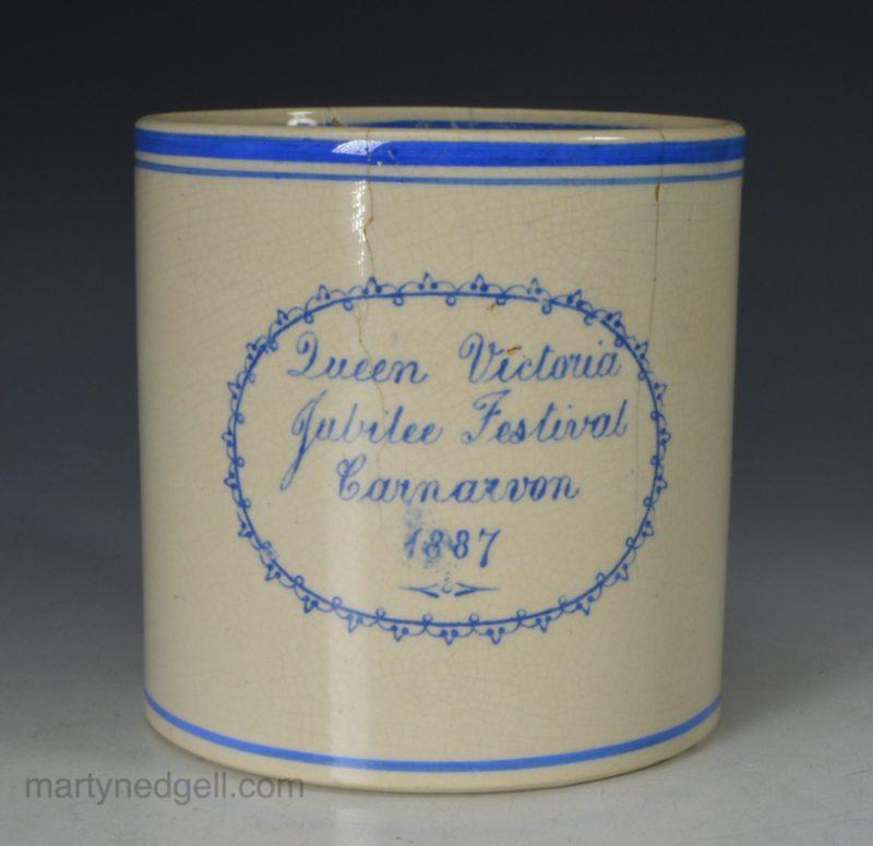 Commemorative pottery mug