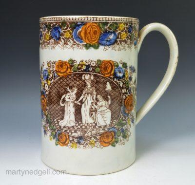 Pearlware commemorative mug