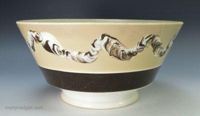 Mochaware pearlware bowl
