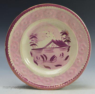 Lustre child's plate
