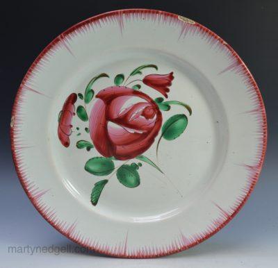 French tin glaze plate