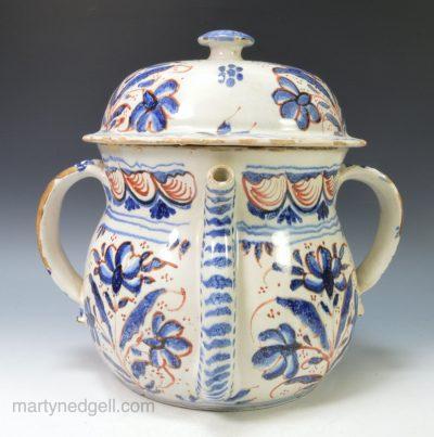 English Delft posset pot