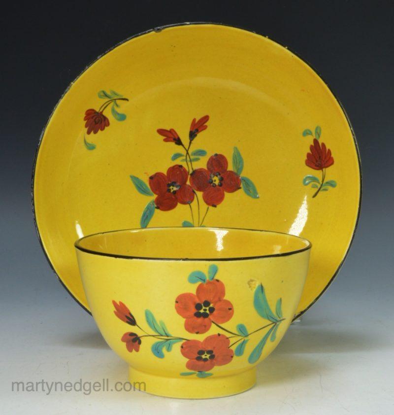 Canary Yellow tea bowl & saucer