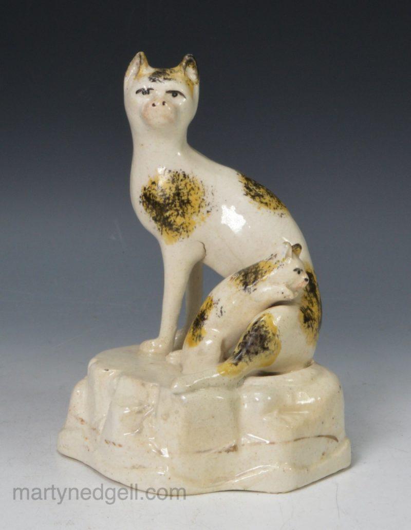 English porcelain cats