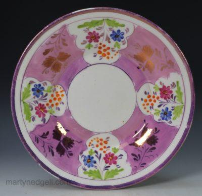 Porcelain lustre plate