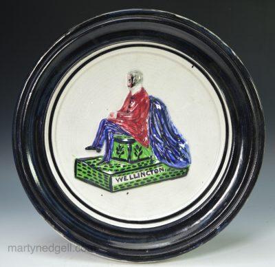 Commemorative pearlware plaque