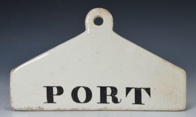 Pearlware bin label