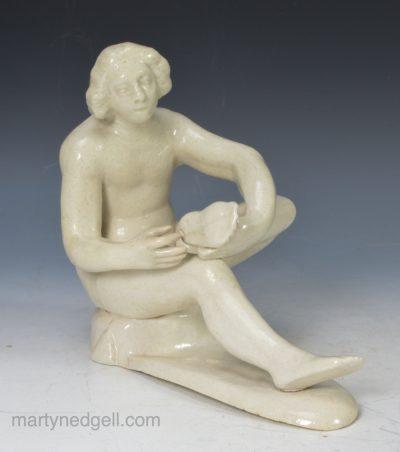 Staffordshire saltglaze figure