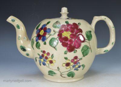 Staffordshire saltglaze teapot