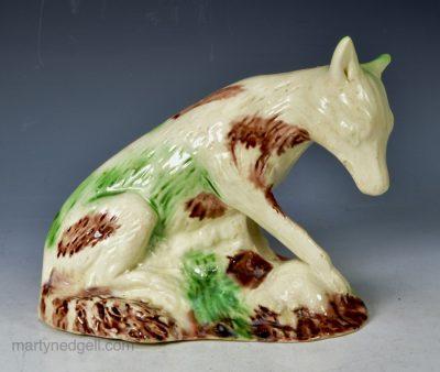 Whieldon creamware fox