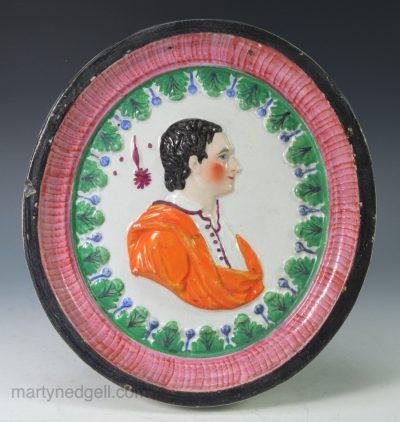 Pearlware commemorative plaque
