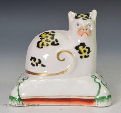 Staffordshire porcelain cat