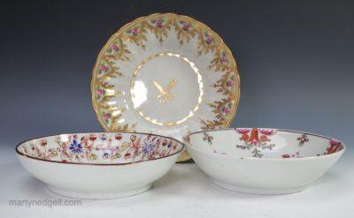 Three saucers porcelain
