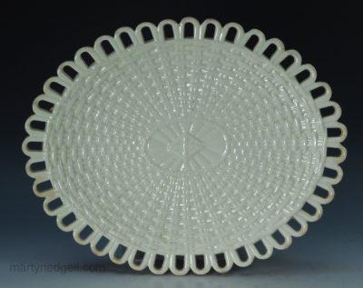 Creamware pottery dish