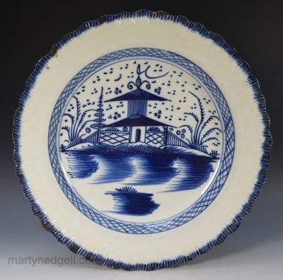 Pearlware shell edge plate